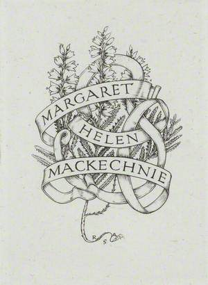 Bookplate for Margaret Barnard