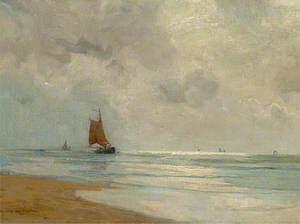 Sailing Boats off Shore