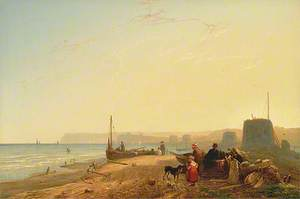 View of Martello Towers near Bexhill, Looking towards Beachy Head, East Sussex