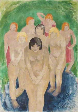 Group of Nude Women Bathers