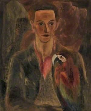 Cedric Morris (Man with Macaw)