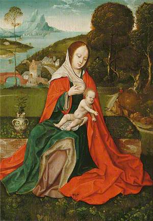 Madonna and Child in a Landscape with Saint Christopher and Saint Anthony the Great