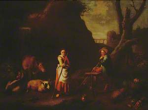 Pastoral Scene with Children and Animals
