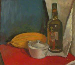 Still Life with a Bottle, a Melon and a Teapot