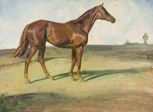 A Chestnut Horse in a Landscape ('Happy Laughter')