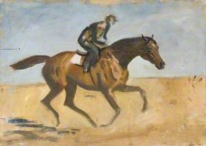 Study of a Boy Exercising a Racehorse