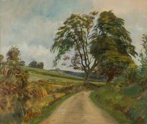 A Lane at Exford, Exmoor (Study of a Tree)