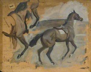 Study for 'Start of a Steeplechase'