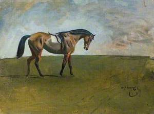A Racehorse in a Landscape