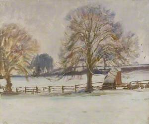 A Winter Landscape with Trees