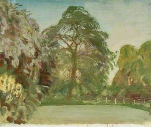 A Parkland Scene with Trees