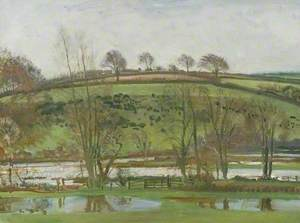 A View near Withypool, Exmoor, with Flood Water