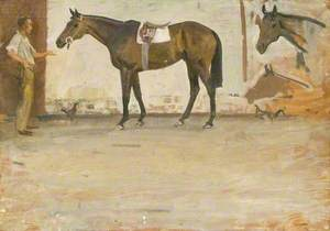 Study of a Racehorse with a Stable Lad