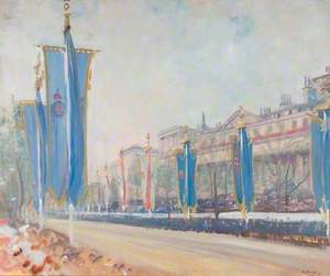 Study of the Decorations in the Mall for the Coronation of George VI, 1937