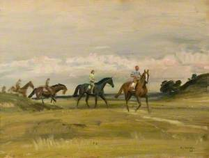 Racehorses Training in a Landscape