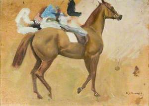 A Chestnut with Jockey up