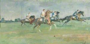 Exercising Horses on Warren Hill, Newmarket