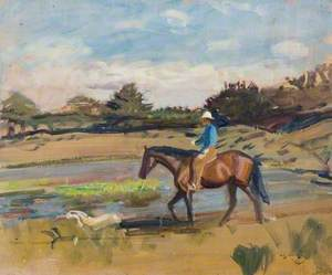 A Horse and Rider in a Landscape