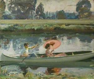 Study for 'The White Canoe'