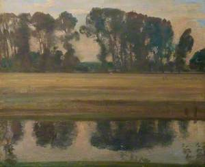 River Landscape with Trees