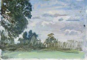 A Landscape, Study with Trees
