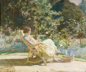 Violet, My Wife, in the Garden