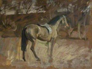 A Bay Horse in a Landscape
