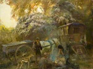 A Gipsy Campfire