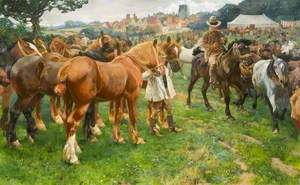 A Suffolk Horse Fair, Lavenham