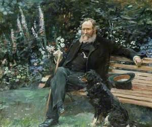 Daniel Tomkins and His Dog