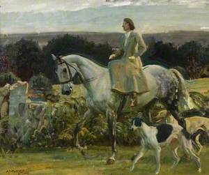 Study for 'Lady Munnings Riding on Exmoor'