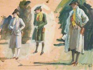 Study of Figures at the Races