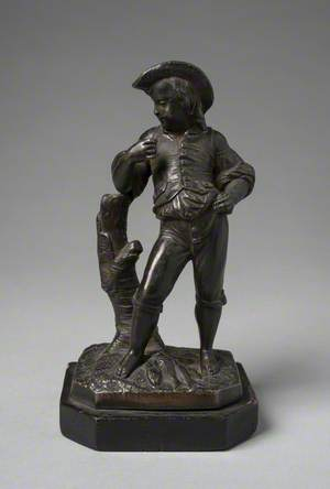 Figure of a Boy Holding a Fish