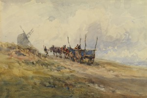 Landscape with Mill and Farm Wagon