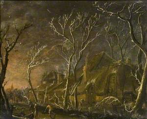 A Winter Scene at Night