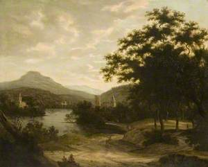 Landscape with a Lake and Castle