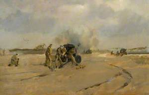 Trial Canvas for '25 Pounders on Salisbury Plain'