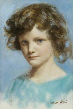 Portrait of a Little Girl in Blue
