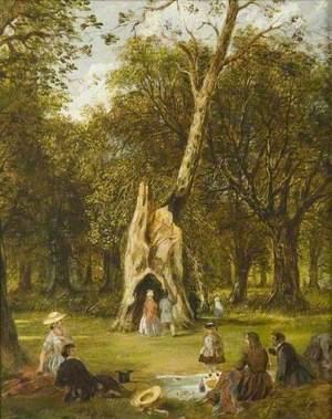 Woodland Picnic Scene