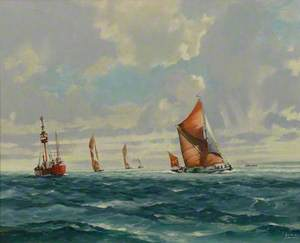 Nore Lightship and Thames Barges