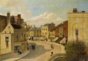 Chelmsford High Street, from above the Stone Bridge
