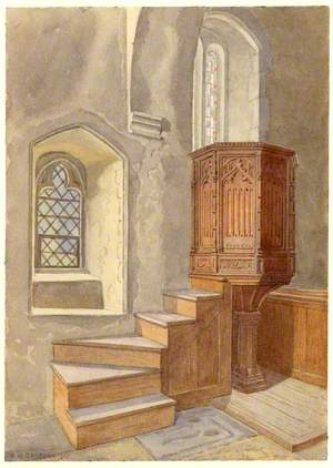 Tudor Pulpit, Sandon Church