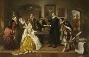 Dr William Gilberd Showing His Experiments on Electricity to Queen Elizabeth and Her Court