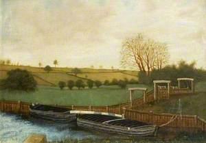 Wissington Locks, Barges and Floodgate