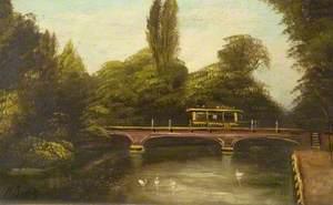 Tram Crossing the North Bridge, Colchester