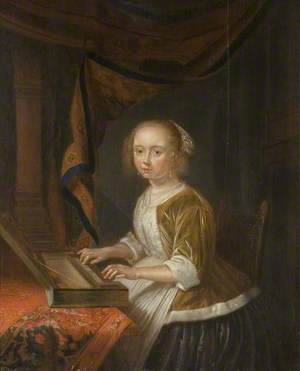 Girl Playing a Virginal