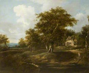 Wooded Landscape with Thatched Cottage