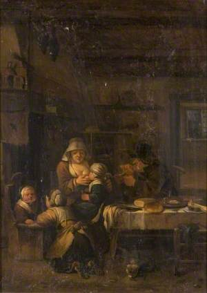 Interior with Mother Suckling Her Child