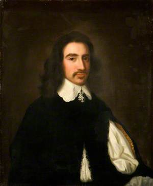 Portrait of a Gentleman in a Black Doublet and Lace Collar