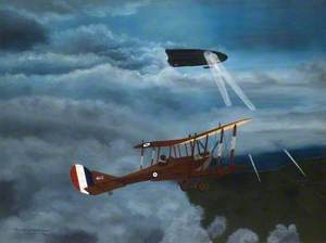 BE2 4112 Attack on Airship L31 at Night